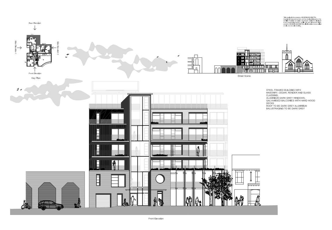 www.bodenassociates.co.uk image: Drawing of Highcross front elevation