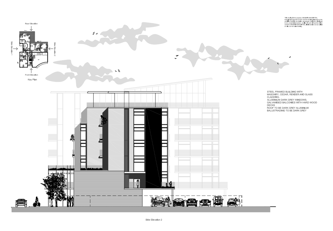 www.bodenassociates.co.uk image: Drawing of Highcross side elevation